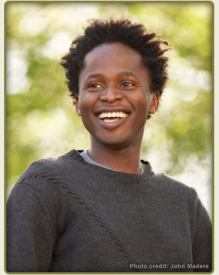 Ishmael Beah, author of A Long Way Gone: memoirs of a boy soldier
